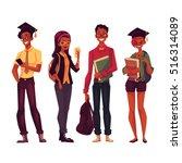 group of full height black...   Shutterstock .eps vector #516314089