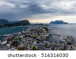 alesund is a sea port  and is... | Shutterstock . vector #516316030