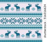 scandinavian style seamless ...   Shutterstock .eps vector #516316624