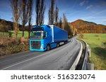 truck transportation | Shutterstock . vector #516323074
