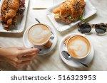 woman eating lunch in modern...   Shutterstock . vector #516323953