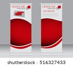 roll up banner stand template.... | Shutterstock .eps vector #516327433