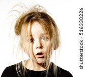 disheveled preschooler girl...   Shutterstock . vector #516330226