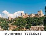 granada   the alhambra palace... | Shutterstock . vector #516330268
