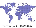 abstract background. world map... | Shutterstock .eps vector #516334864