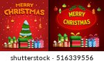 christmas poster  post card ... | Shutterstock .eps vector #516339556