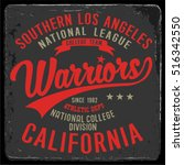 vintage varsity graphics and... | Shutterstock .eps vector #516342550