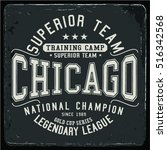 vintage varsity graphics and... | Shutterstock .eps vector #516342568