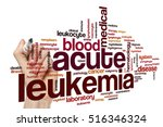Small photo of Acute leukemia word cloud concept