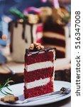 closeup shot of a homemade red... | Shutterstock . vector #516347008