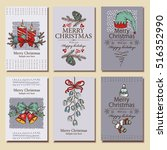 vector set. christmas and new... | Shutterstock .eps vector #516352990
