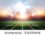 american soccer stadium  3d... | Shutterstock . vector #516354646
