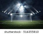 goal post 3d rendering   Shutterstock . vector #516355810