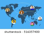 social network vector concept...   Shutterstock .eps vector #516357400