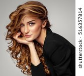 portrait of beautiful female... | Shutterstock . vector #516357814