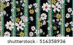seamless floral pattern in... | Shutterstock .eps vector #516358936