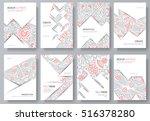 abstract vector brochure cards... | Shutterstock .eps vector #516378280
