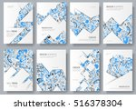 abstract vector brochure cards... | Shutterstock .eps vector #516378304