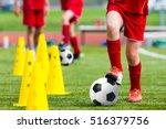 kids football soccer training... | Shutterstock . vector #516379756