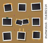 set square vector frames for... | Shutterstock .eps vector #516382114