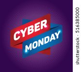 cyber monday arrow tag sign. | Shutterstock .eps vector #516385000