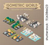 set of isolated isometric... | Shutterstock .eps vector #516386623