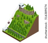 isometric infographic element... | Shutterstock . vector #516389074