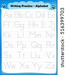 alphabet letters tracing...   Shutterstock .eps vector #516399703