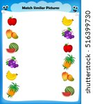 preschool worksheet for kids.... | Shutterstock .eps vector #516399730