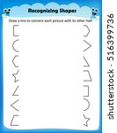 kids worksheet matching shapes | Shutterstock .eps vector #516399736
