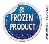 frozen product label or sticker ... | Shutterstock .eps vector #516401314