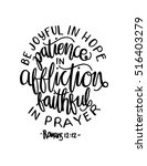 be joyful in hope  patient in... | Shutterstock .eps vector #516403279