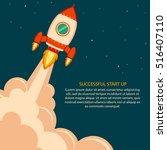 space rocket launch. project... | Shutterstock .eps vector #516407110