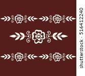 floral mehendi pattern ornament | Shutterstock .eps vector #516412240