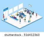 isometric flat 3d concept... | Shutterstock .eps vector #516412363