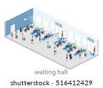 isometric flat 3d concept... | Shutterstock .eps vector #516412429