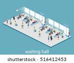 isometric flat 3d concept... | Shutterstock .eps vector #516412453