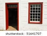 red door frame on a white... | Shutterstock . vector #51641707