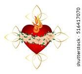 immaculate heart of virgin mary ...   Shutterstock .eps vector #516417070