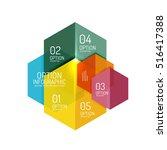infographic modern templates  ... | Shutterstock .eps vector #516417388