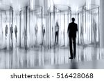 entrance of the modern business ... | Shutterstock . vector #516428068