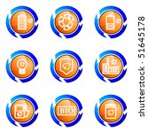 set of 9 glossy web icons  set... | Shutterstock .eps vector #51645178