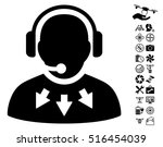operator message icon with... | Shutterstock .eps vector #516454039