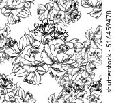 abstract elegance seamless... | Shutterstock . vector #516459478