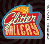 vector vintage glitter gallery...   Shutterstock .eps vector #516474703