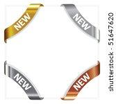 vector set advertising angular  ... | Shutterstock .eps vector #51647620