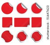 set vector red stickers | Shutterstock .eps vector #51647623