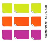 set vector square stickers