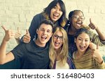 diversity students friends... | Shutterstock . vector #516480403