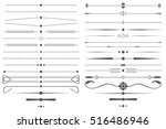 set of simple decorative page...   Shutterstock . vector #516486946